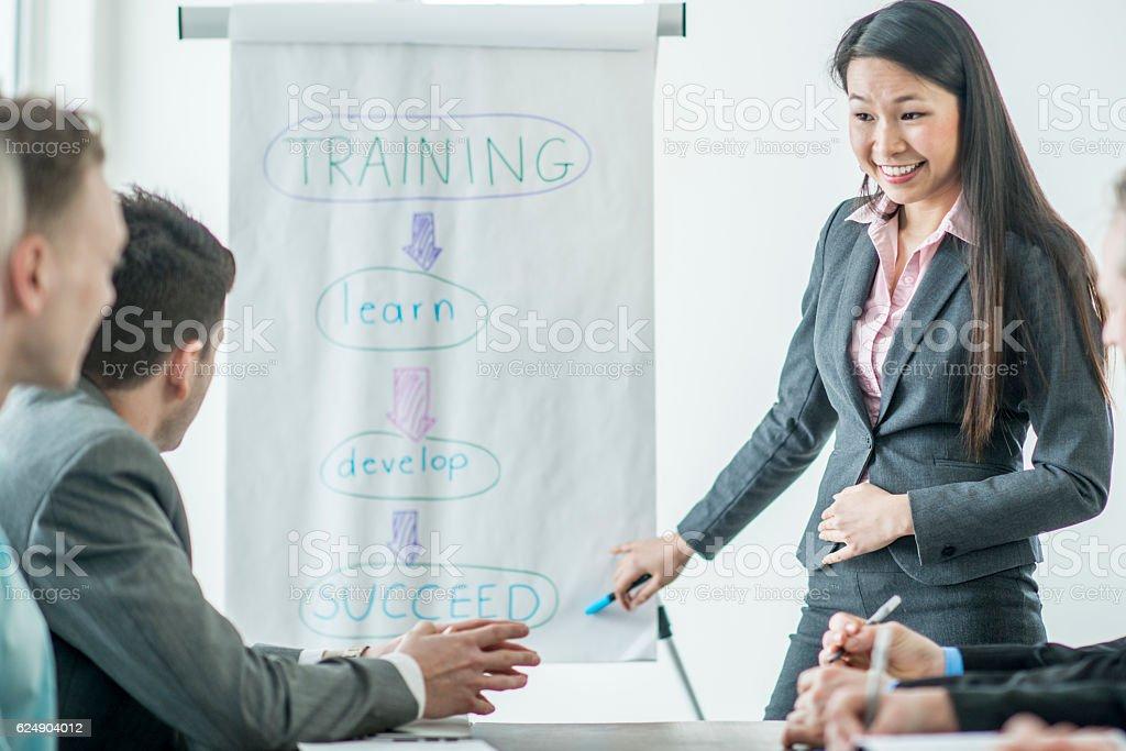 Training New Business Employees stock photo