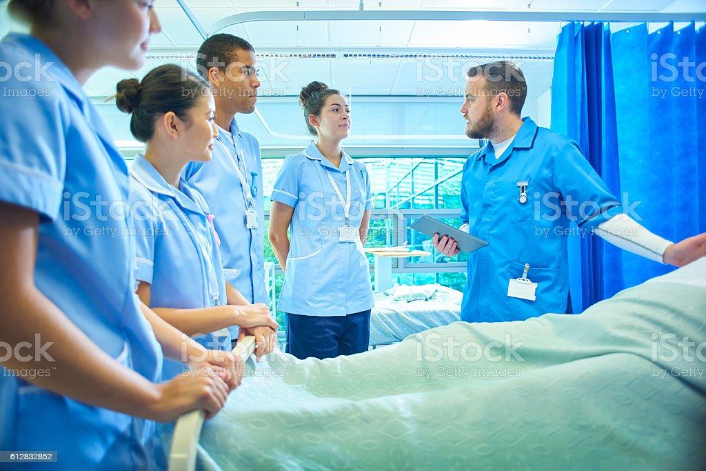 training nurses stock photo