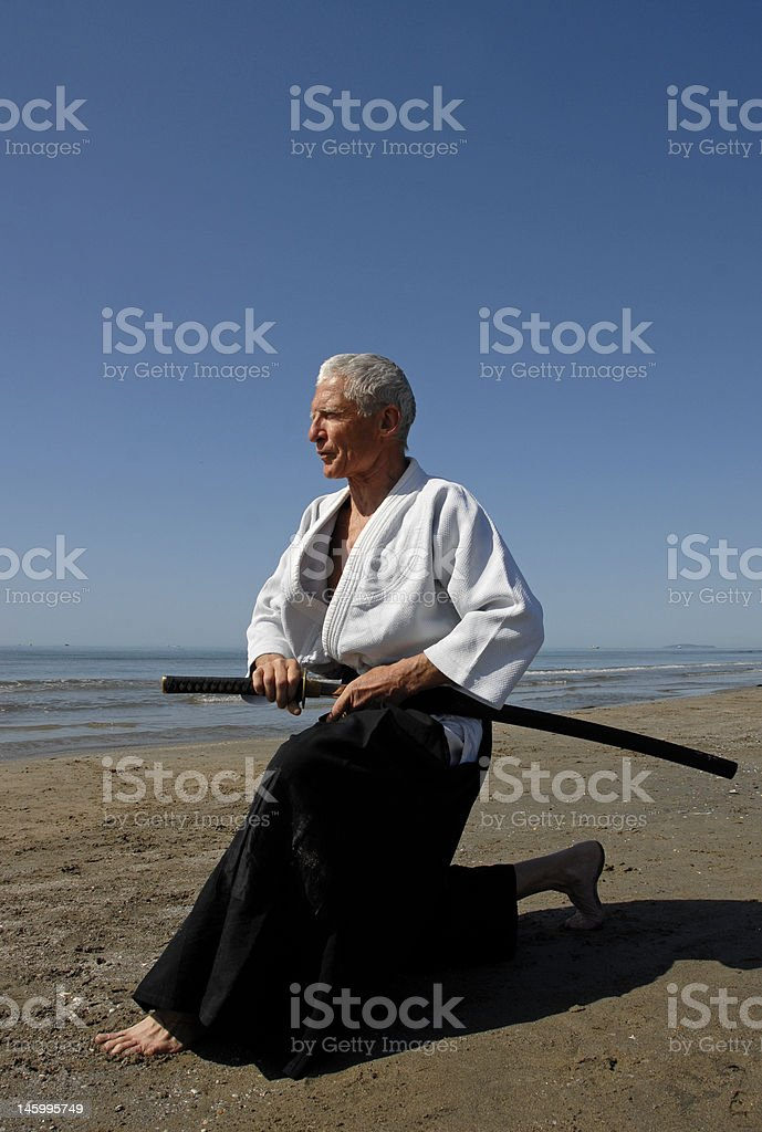 training of Aikido royalty-free stock photo