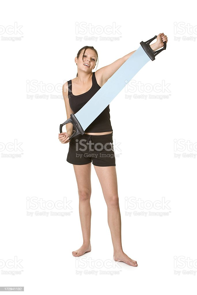 training of young woman royalty-free stock photo