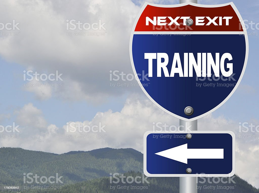 Training road sign royalty-free stock photo