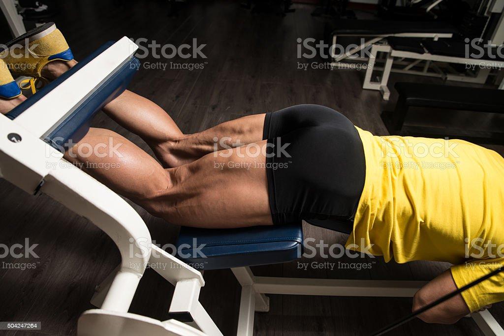 Training Strong Legs Hamstring stock photo