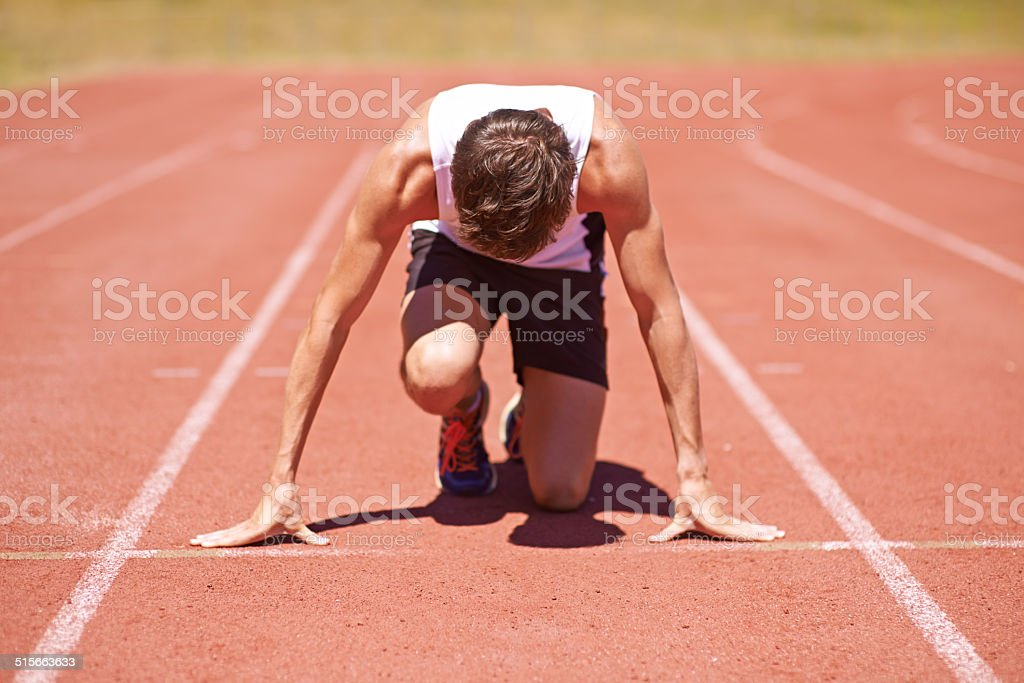 Training to be the best stock photo