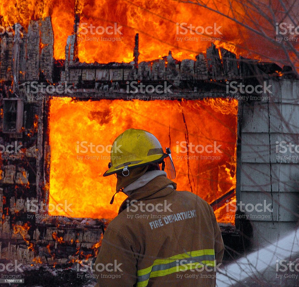 Training with Fire stock photo