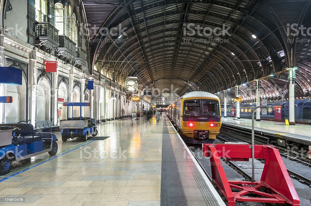 Trains Arriving At Paddington Railway Station In London, England royalty-free stock photo