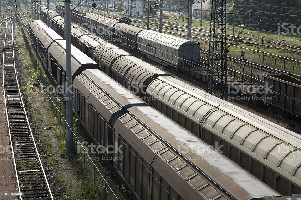 Trains stock photo