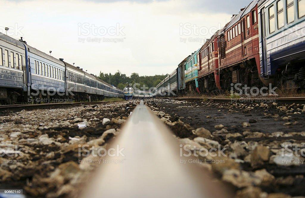 trains stock photo