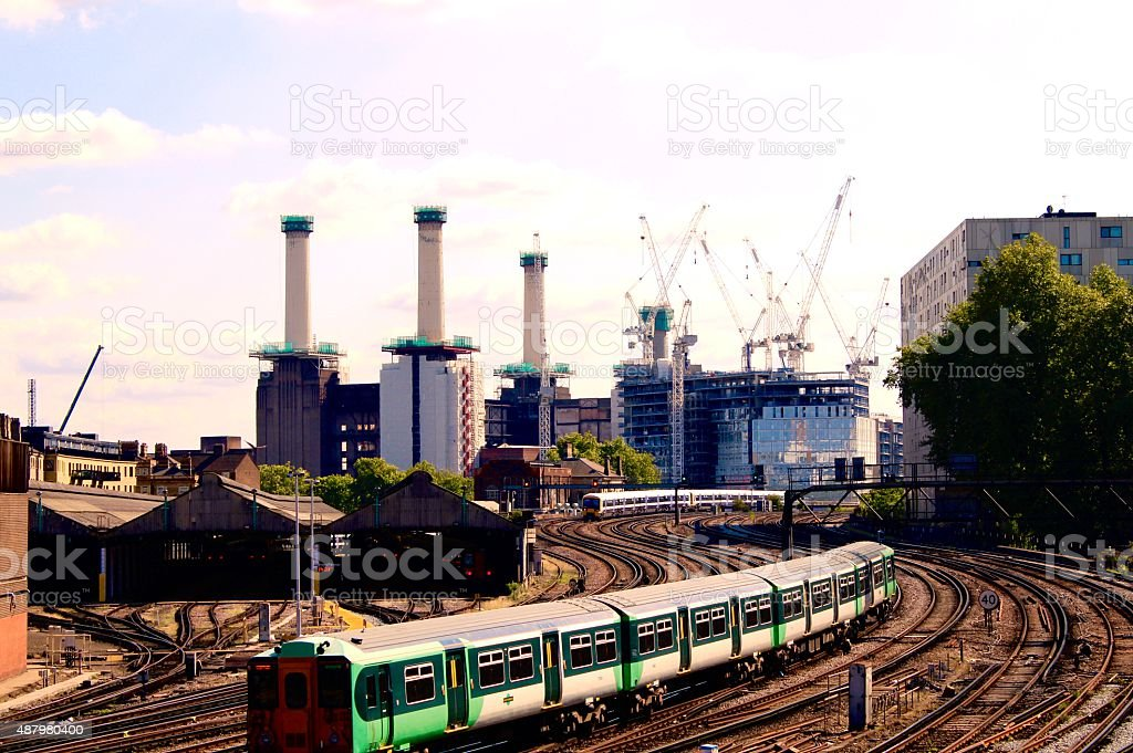 Trains, Planes and Cranes stock photo