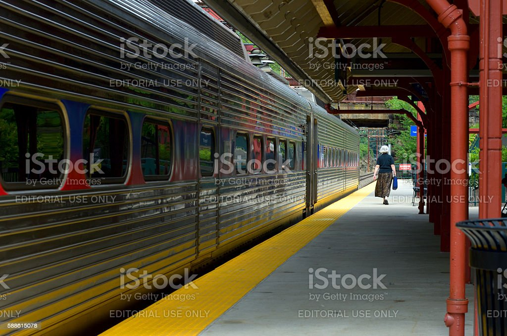 SEPTA Trainstation in Philadelphia, PA stock photo