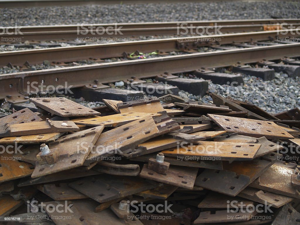 Traintrack Scrap-heap royalty-free stock photo