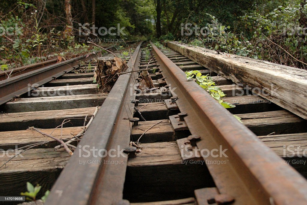 Traintracks to nowhere stock photo