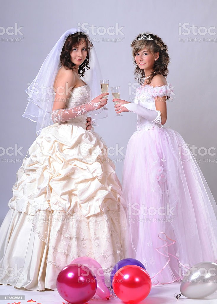 trait of the young bride royalty-free stock photo