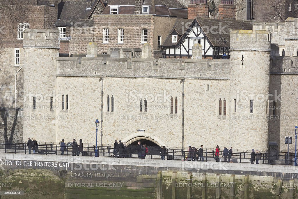 Traitor's Gate at Tower of London, England stock photo