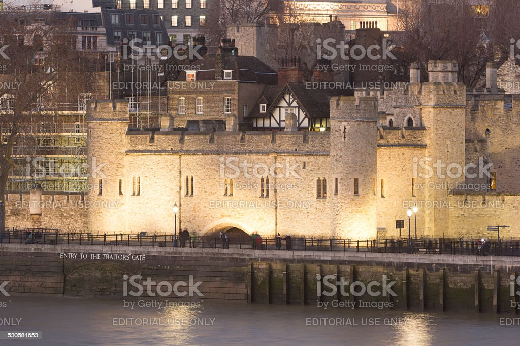 Traitor's Gate at Tower of London in England, UK stock photo