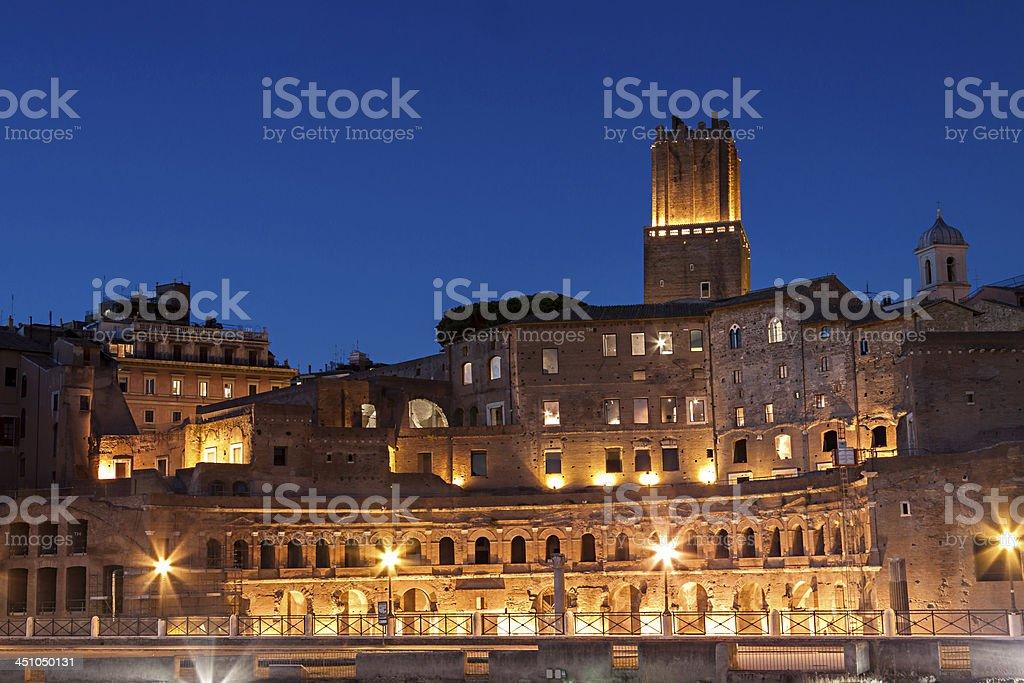 Trajan ancient market, Rome stock photo
