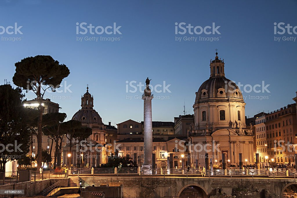 Trajan column, Rome stock photo