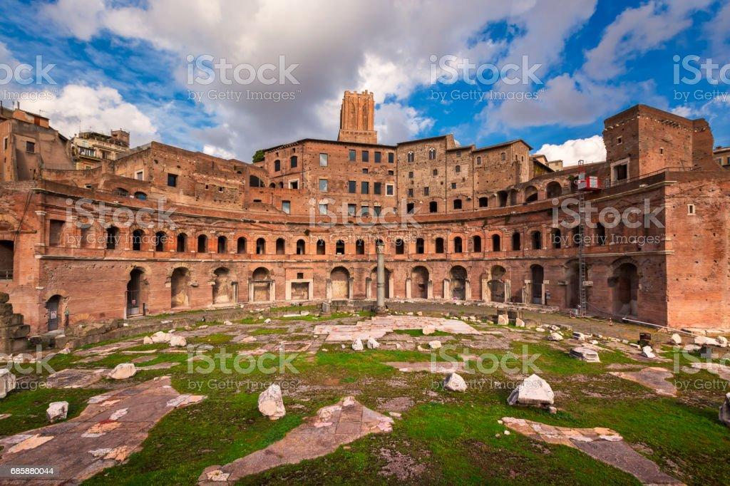 Trajan Forum in Rome, Italy stock photo