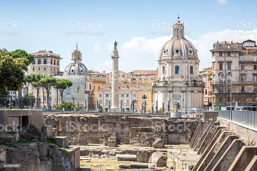 Trajan Forum, Rome, Italy stock photo