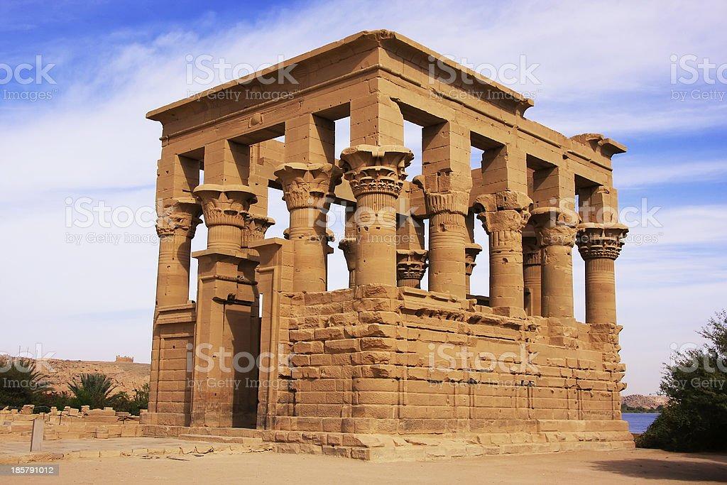 Trajan kiosk, Philae Temple, Lake Nasser stock photo