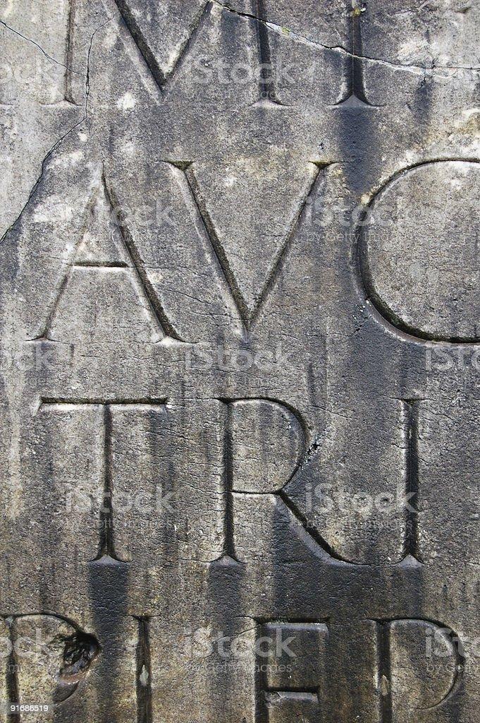 Trajan Letters royalty-free stock photo