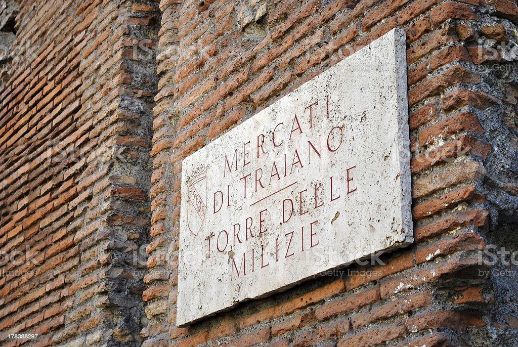 Trajan market facade royalty-free stock photo