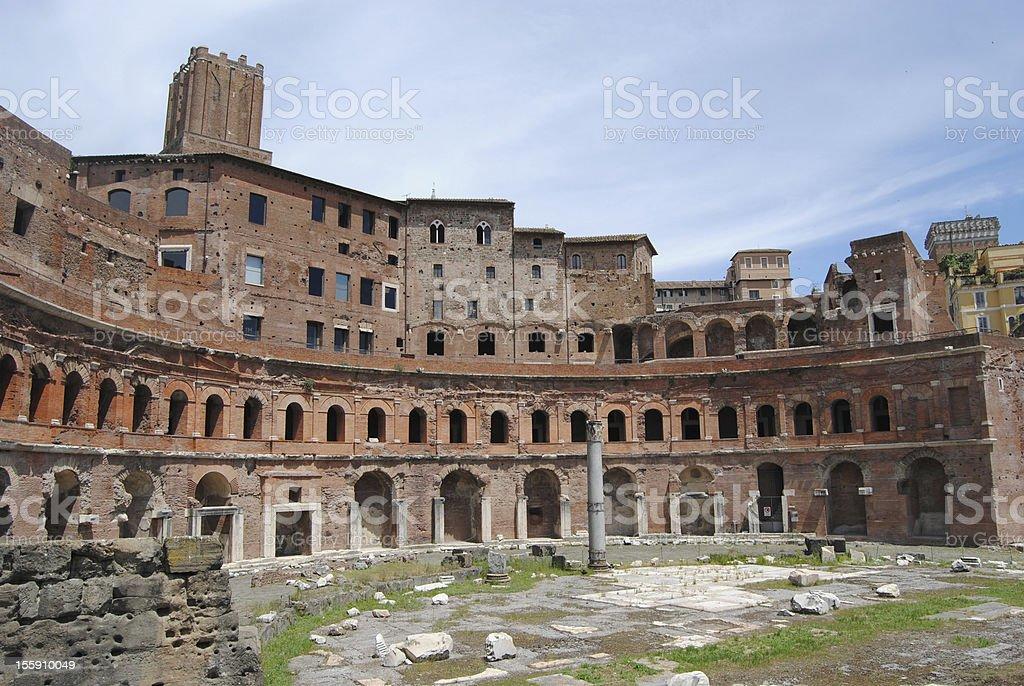 Trajan Market view. Rome. stock photo