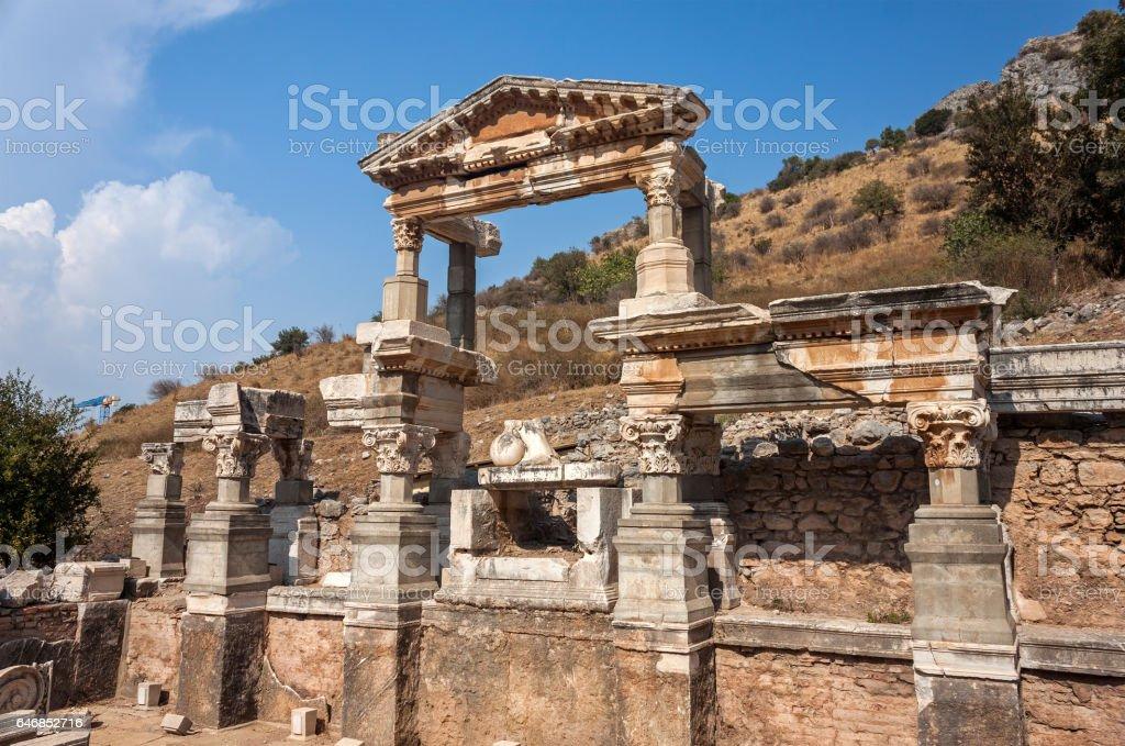 Trajan Nymphaeum Ephesus, Turkey stock photo