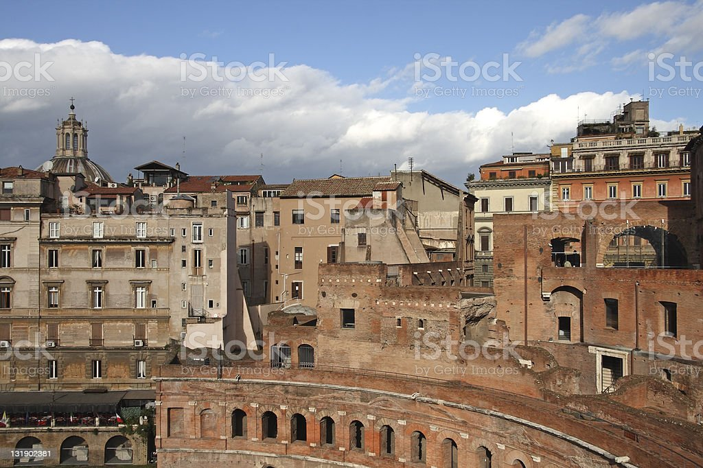 Trajan´s Forum, Rome stock photo