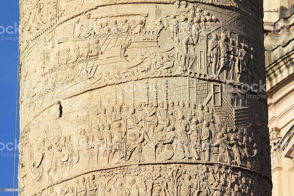 Trajan's Column. stock photo