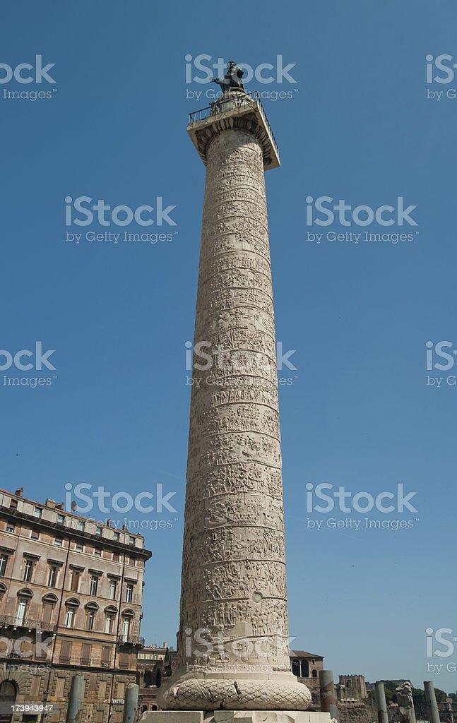 Trajan's Column stock photo