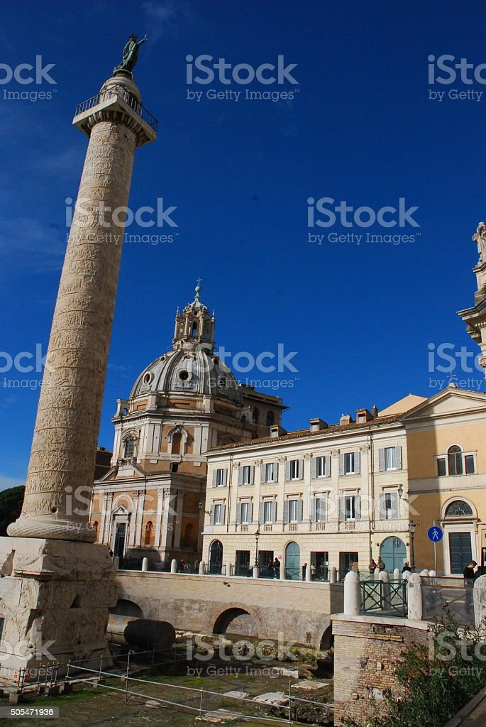 Trajan's Column royalty-free stock photo