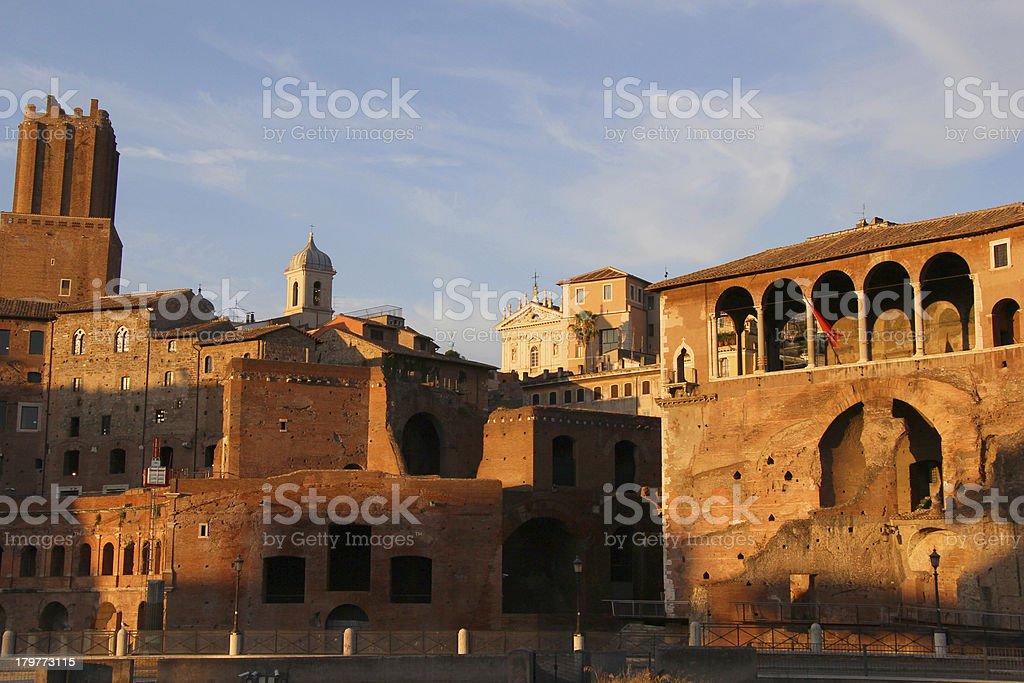 Trajan?s forum at dusk stock photo