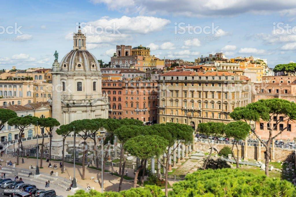 Trajan's Forum / Forum Traiani / Foro di Traiano stock photo
