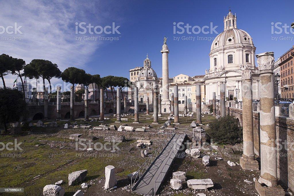 Trajan's Forum in Ancient Rome, Italy stock photo