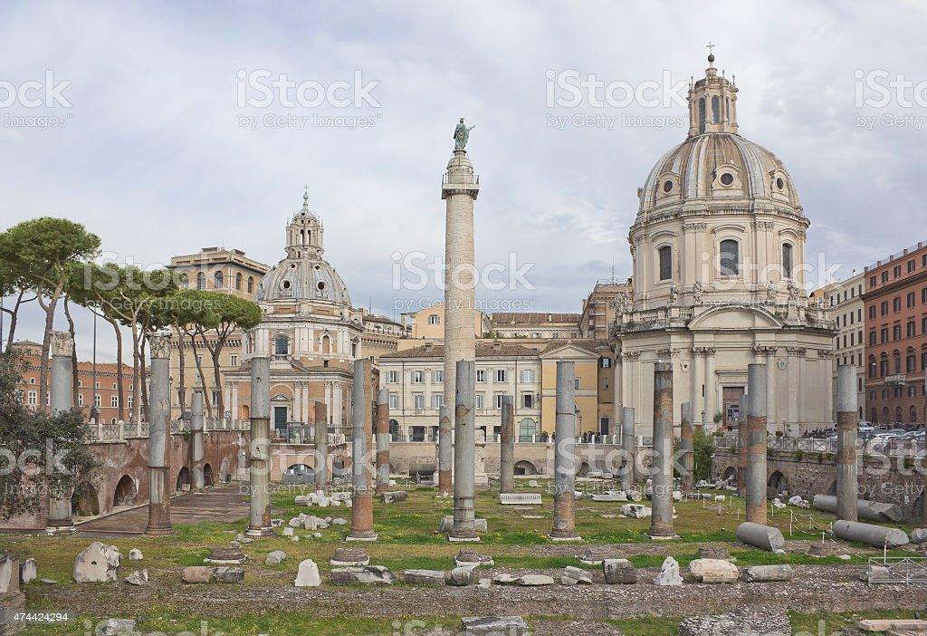 Trajan's Forum in Rome stock photo