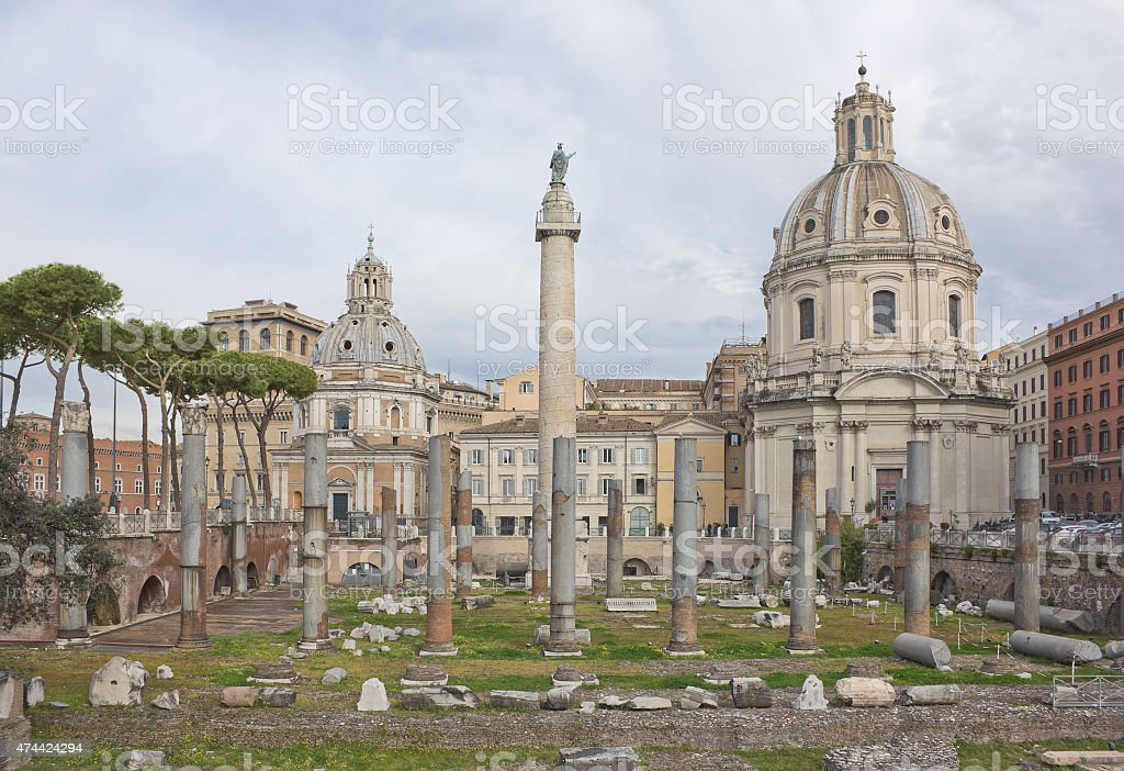 Trajan's Forum in Rome stock photo