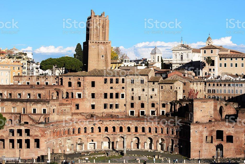 Trajan's Forum Markets in Rome stock photo