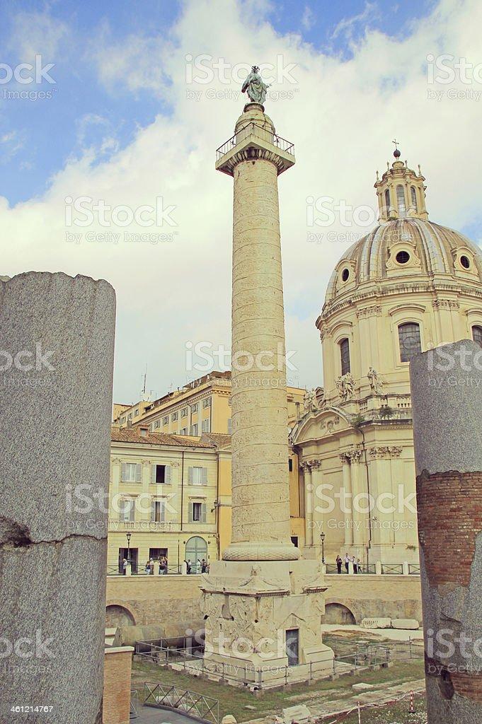 Trajan's Forum, Rome, Italy. stock photo