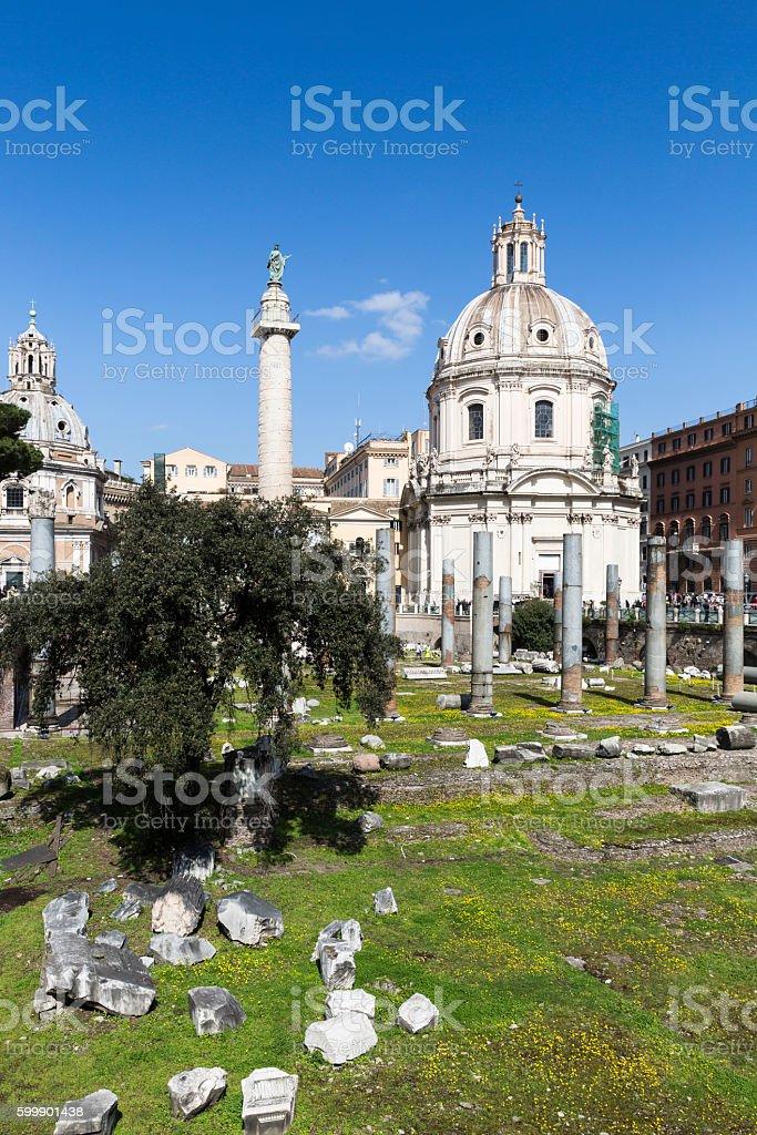 Trajan's Forum, Rome, Italy stock photo