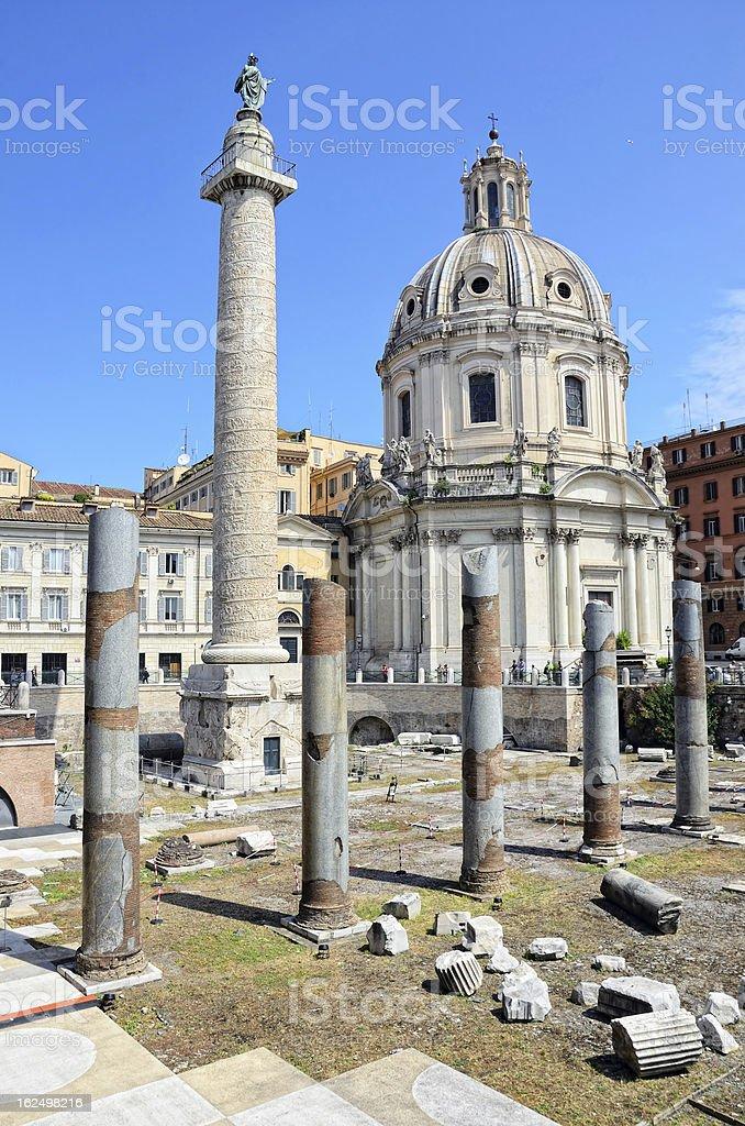 Trajan's Forum, Rome stock photo