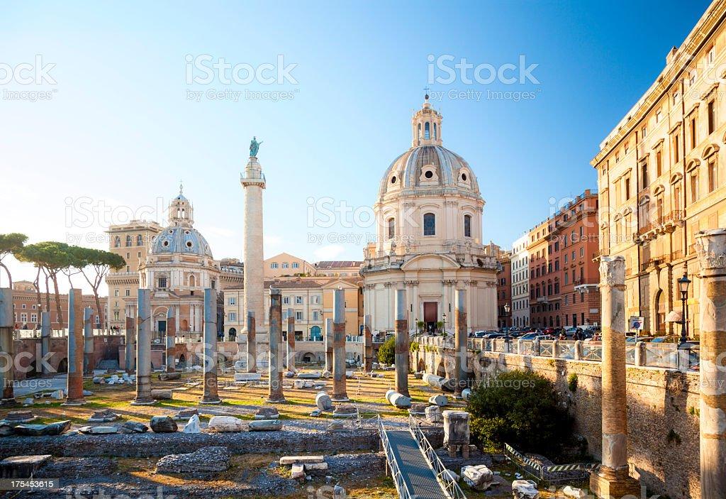 Trajan's Forum, Rome royalty-free stock photo