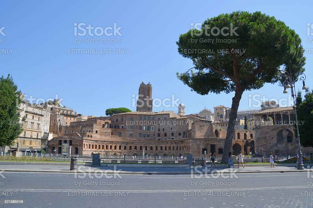 Trajan's Forum, Via dei Fori Imperiali, Rome stock photo