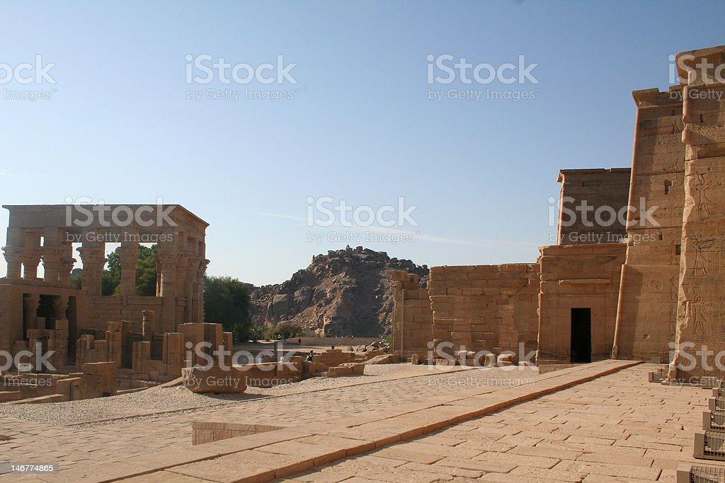 Trajan's Kiosk at Philae Temple stock photo