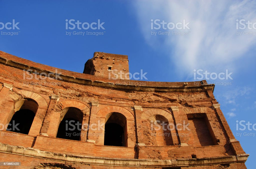Trajan's Market exedra stock photo