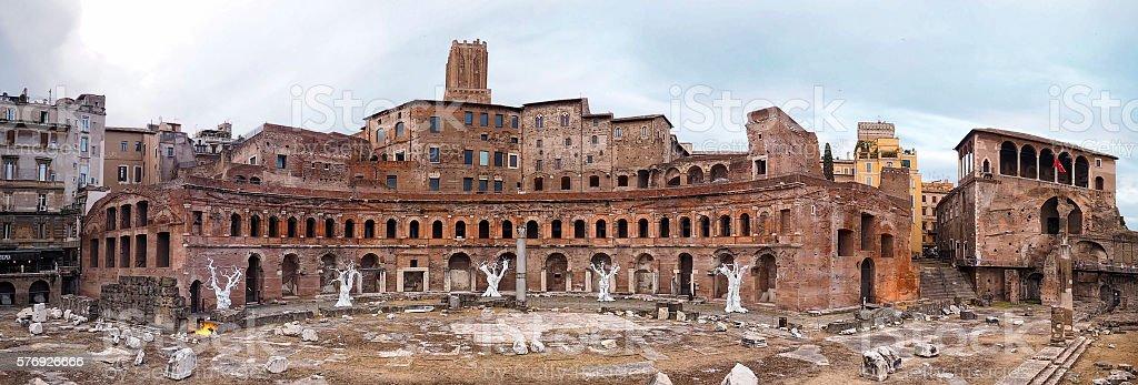Mercado de Trajano en Roma stock photo