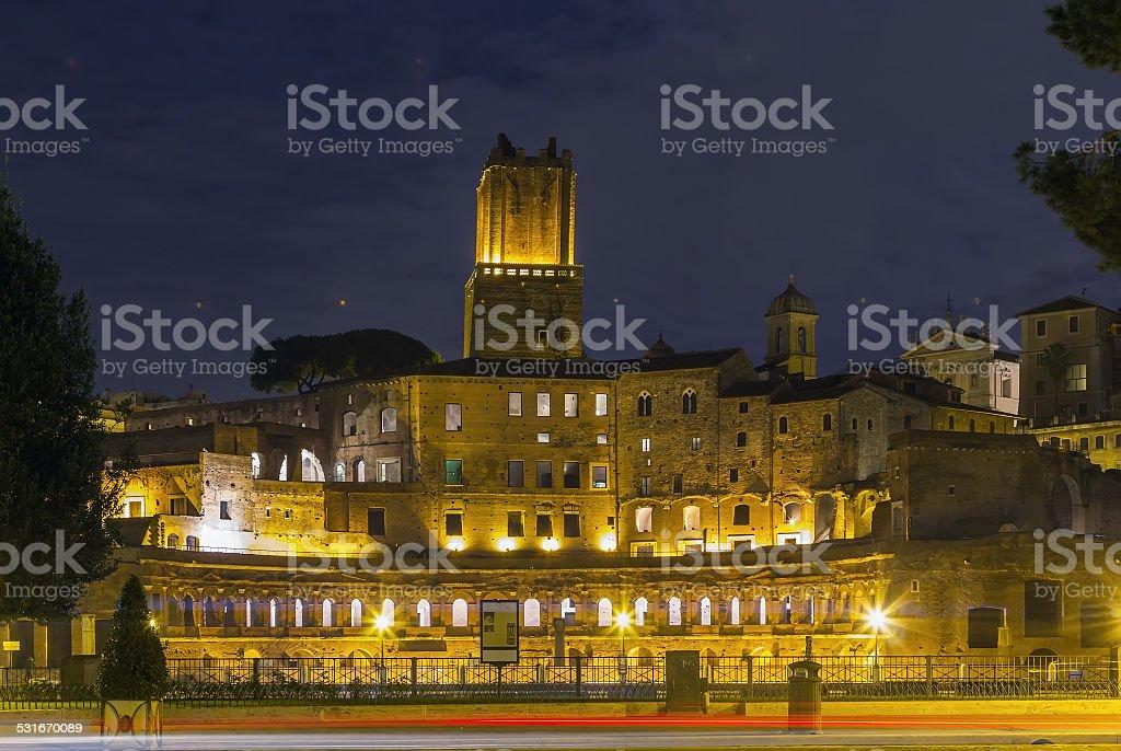 Trajan's Market, Rome stock photo