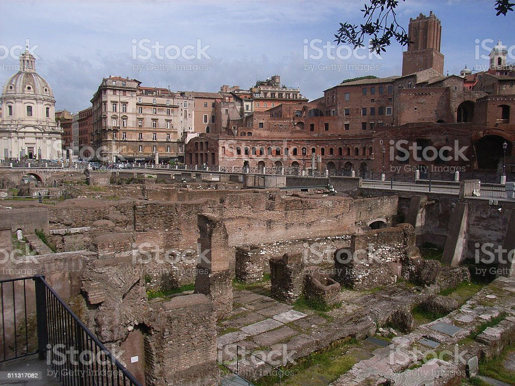 Mercati di Traiano stock photo