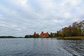 Trakai castle in the lake