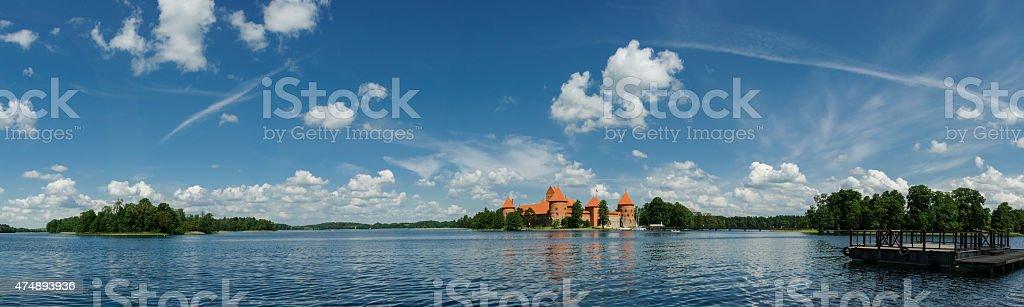 Trakai Castle, Lithuania, Europe stock photo