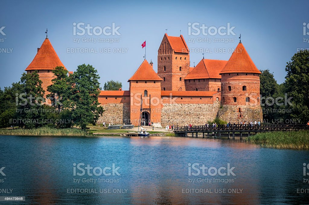 Trakai Island Castle, Lithuania stock photo